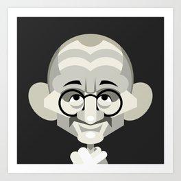 Gandhi vector caricature Art Print