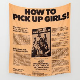 How To Pick Up Girls Wall Tapestry
