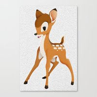 bambi Canvas Prints featuring Bambi by MandiMccl