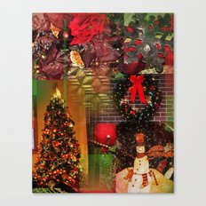 The Christmas Collage Canvas Print