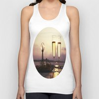 champagne Tank Tops featuring Champagne Date by Brown Eyed Lady