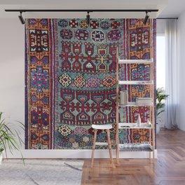Elazig  Antique Tribal Kurdish Niche Carpet Print Wall Mural
