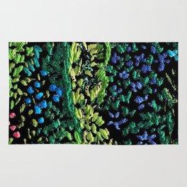 cheerful handmade embroidery in the digital world Rug