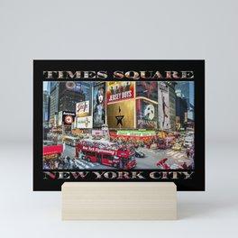 Times Square II (widescreen on black) Mini Art Print