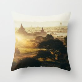 Bagan Pagodas Throw Pillow