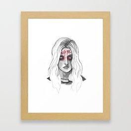 Kill Me B/W Framed Art Print