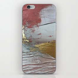 Darling [2]: a minimal, abstract mixed-media piece in pink, white, and gold by Alyssa Hamilton Art iPhone Skin