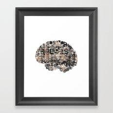 Mind over matter. Framed Art Print
