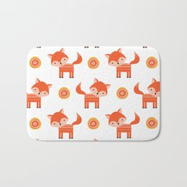 Orange Fox Bath Mat