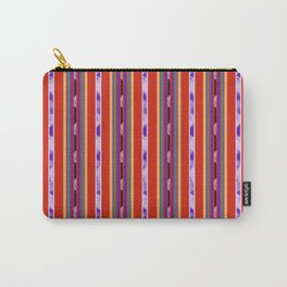 Red and Purple huipil Carry-All Pouch