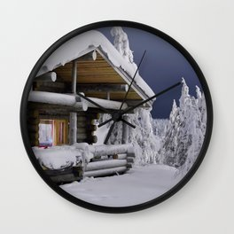 Winter house Wall Clock