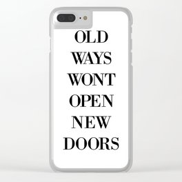 OLD WAYS Clear iPhone Case