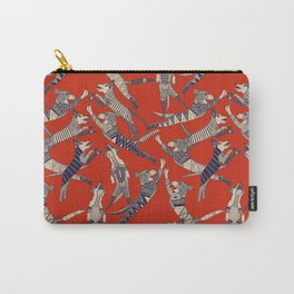 dog party retro Carry-All Pouch