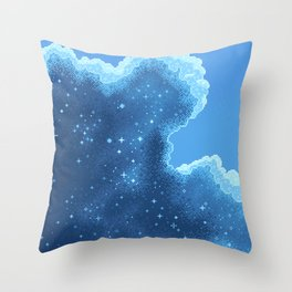 8bit Glacier Galaxy: Art Along #2 Throw Pillow
