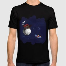 The little Prince Black Mens Fitted Tee MEDIUM