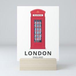 London England K6 Telephone Mini Art Print