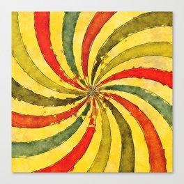 retrowaterswirl Canvas Print