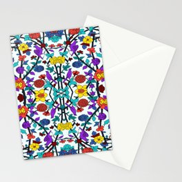 purple birds in roses Stationery Cards