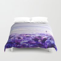 return Duvet Covers featuring A Return. by Ian Durneen Illustration