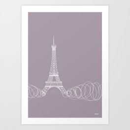 Paris by Friztin Art Print