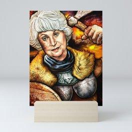 """Picture it: Sicily 1061"" Golden Girls- Bea Arthur Mini Art Print"