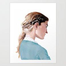 Blond Girl Art Print