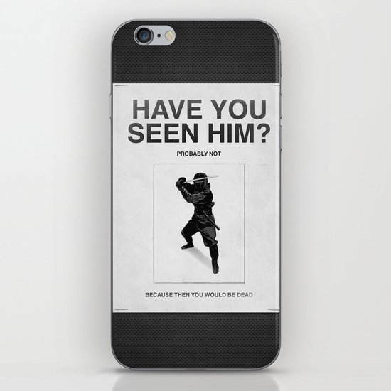 Have you seen him? iPhone Skin