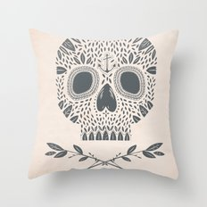 LEAF SKULL Throw Pillow