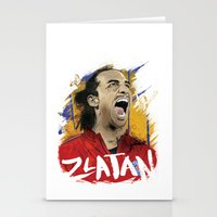 zlatan Stationery Cards featuring Zlatan by Conal Deeney