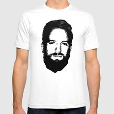 RossFace White Mens Fitted Tee SMALL