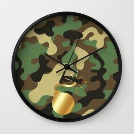 CAMO & GOLD BOMB DIGGITY Wall Clock