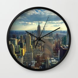 View Of New York City Wall Clock