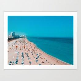 Turquoise Ocean Miami Beach Art Print