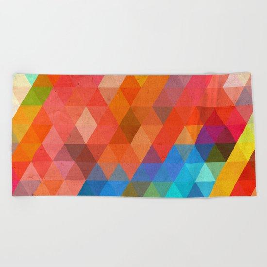 Color Triangles Beach Towel