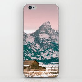 Grand Tetons Barn iPhone Skin