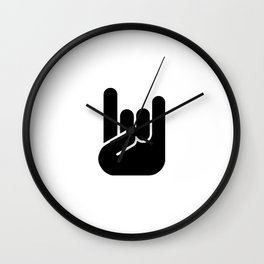 Heavy Metal Horns Wall Clock