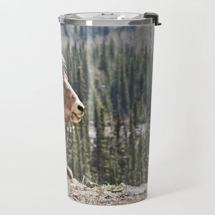 Smiling Bighorn Mountain Sheep Travel Mug