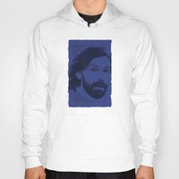 pirlo Hoodies featuring World Cup Edition - Andrea Pirlo / Italy by Milan Vuckovic