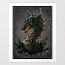 Regal Dragon Art Print