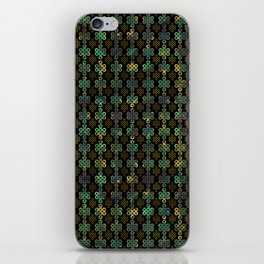 Endless Knot Pattern - Gold and Marble iPhone Skin