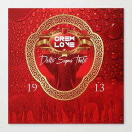 cREW lOVE dst 2 Canvas Print