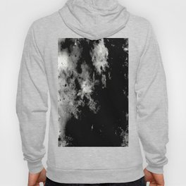 Endless Turmoil - Abstract Black And White Painting Hoody