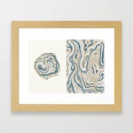 Polar Bear Lines Framed Art Print
