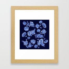 Porcelain Floral Framed Art Print