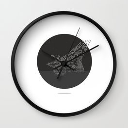 Soars to ever darker height Wall Clock