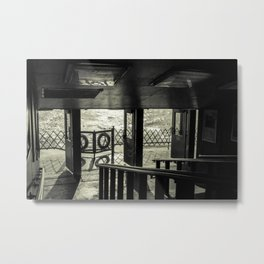 The Back of The Boat Metal Print