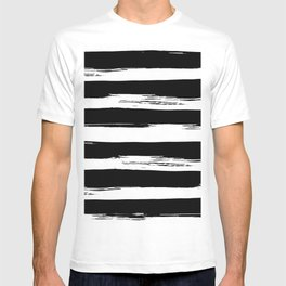 Paint Stripes Black and White T-shirt