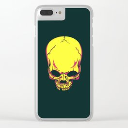 neon skull. Clear iPhone Case