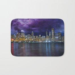 Spacey Chicago Skyline Bath Mat