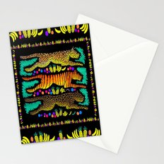 Leaping Felines Stationery Cards